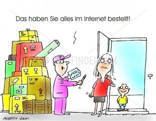 einkauf internet kind computer bestellen rechnung