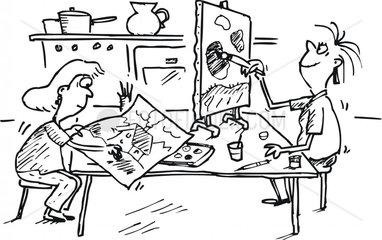 malen zeichnen basteln zuhause heim k__che