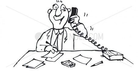 mann telefon arbeit tisch pult schreibtisch b__ro