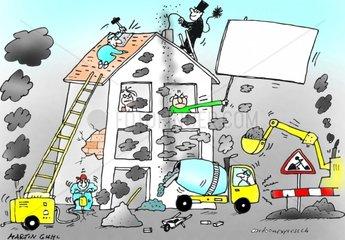 miete bauen umbau renovation reparatur haus protest l__rm gestank