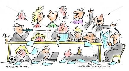 meeting unordnung chaos arbeit gesch__ft unerzogen