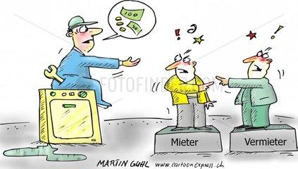 mieter vermieter streit wohnung reparaturen waschmaschine defekt monteur ar