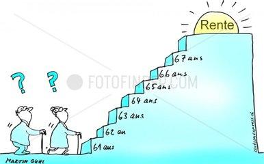 rente wann treppe stufen warten rentenalter