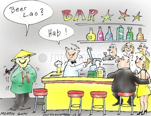 bar bier laos thailand scene