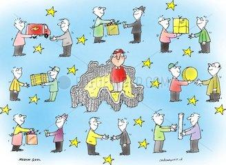 schweiz europa handel ausserhalb mauer isoliert neutral wirtschaft bilatera