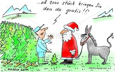 weihnacht st nikolaus mann bauer baum esel