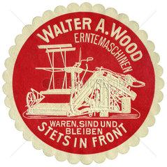 Werbung fuer Erntemaschinen der Wood Company  1910