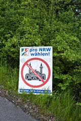 Plakatierung der rechtsextremen Pro-NRW