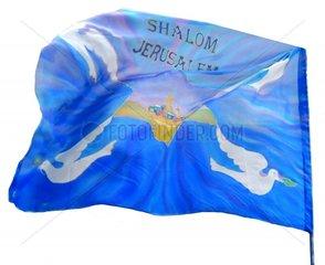 Fahne Shalom Jerusalem Israel