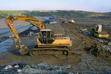 Bautaetigkeiten auf Deponie Ihlenberg