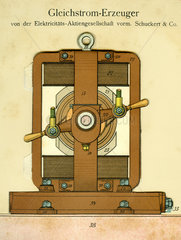 Gleichstrom-Generator  Erfindung  1900