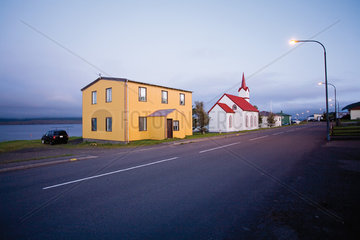 Village of Vopnafjordur  Austerland  Iceland