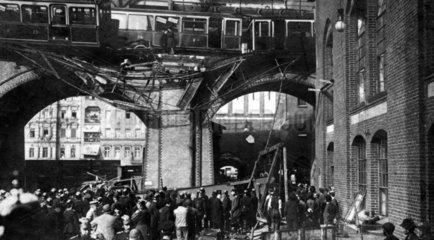 D-Berlin Hochbahn Katastrophe 26.9.1908