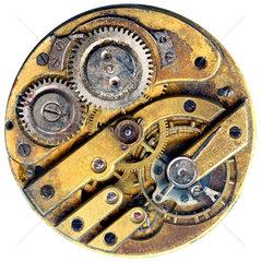 altes defektes Uhrwerk einer Taschenuhr  1900