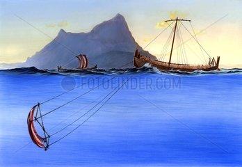 Phoenizier Treibsegel Strasse von Gibraltar