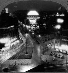 historische Ansicht des Potsdamer Platz bei Nacht
