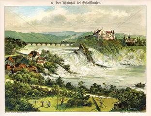 Rheinfall bei Schaffhausen  1885
