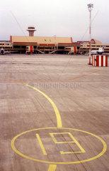 Der Flughafen von Ashgabad in Turkmenistan.