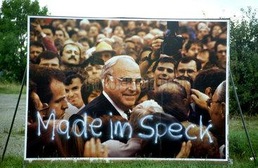 Made im Speck - Wahlplakat fAer Helmut Kohl.