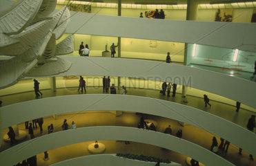 Innenaufnahme des Guggenheim Museum