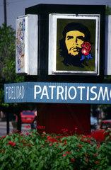 Che Guevara ist auf Havannas Strassen allgegenwaertig.