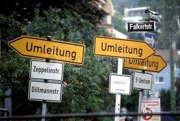 hin des Weges? Umleitungs Chaos in Stuttgart.