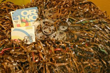 Vernichtete Tonband- und Filmaufnahmen aus dem Stasi-Archiv.