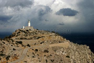Leuchtturm am Cap de Formentor am aeussersten Nordosten Mallorcas.