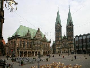 Ansichten der Altstadt von Bremen.