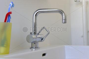 Renoviertes Bad in Altbauwohnung.