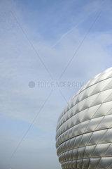 Die Allianz-Arena in Muenchen. Das Heimstadion der Vereine FC Bayern Muenchen und TSV 1860 Muenchen.