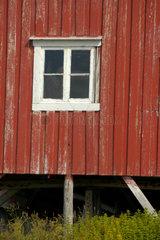 Rorbu (Fischerhuette) auf den Lofoten.