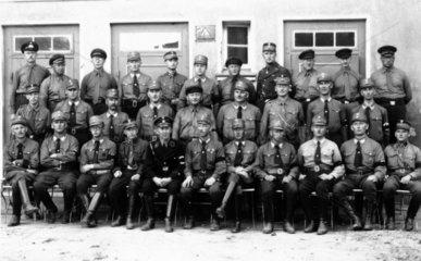 Gruppenbild der SA in Uniform