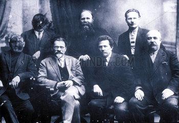Kalinin  Staatoberhaupt der Sowjetunion  1927 in Leningrad.