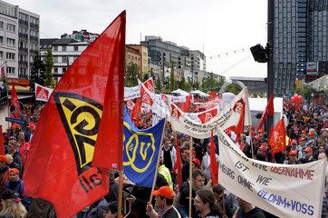 Warnstreiks IG Metall Kueste in Hamburg