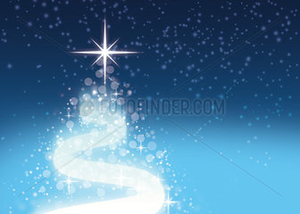 Festive stars on blue background