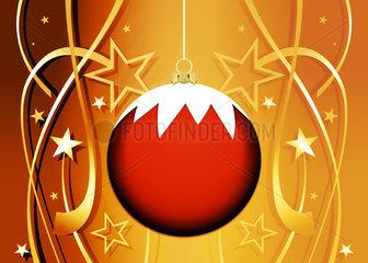 Christmas ornament on festive background