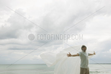 Man trapped in plastic