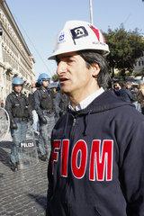 FIOM Gewerkschaftler in Rom