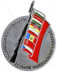 25 Jahre Warschauer Vertrag  Plakette  DDR  1980