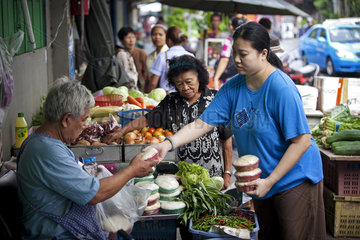 Strassenszene in Bangkok