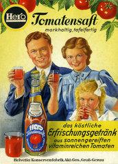 Werbung fuer Hero Tomatensaft  1950