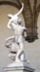 Florenz Firenze Figurengruppe Loggia dei Lanzi Raub der Sabinerinnen