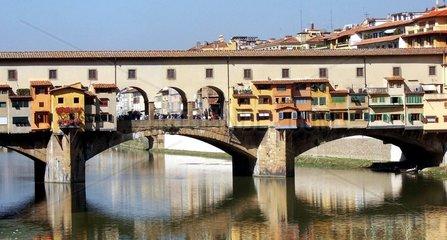Florenz Firenze Ponte Vecchio Fluss Arno
