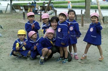 Gruppe Kindergarten-Kinder