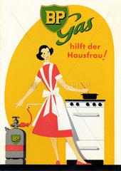 BP Gas hilft der Hausfrau  Werbung  1955