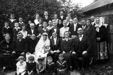 Hochzeit  Grossfamilie 1910