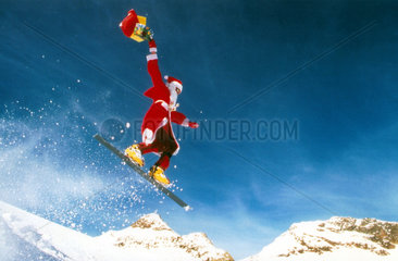 Weihnachtsmann Skier