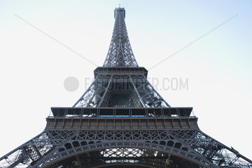 France  Paris  Eiffel Tower  low angle view