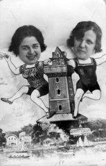 Monatage 2 Frauenkoepfe Wasserturm